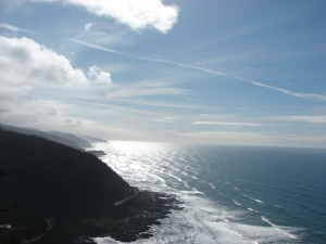 The view South from the shelter on Cape Perpetua