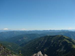 Washington Cascades form the summit