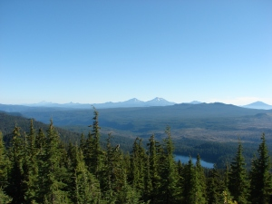 The Cascades from Mt. Hood to Mt. Bachelor and Lower Eddeeleo Lake